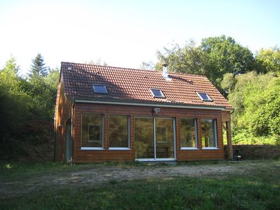 Photo for Very calm wooden chalet in the middle of nature