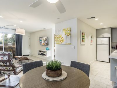Photo for Chic Condo, Moments from Downtown Palm Springs - Quiet Complex with Pool