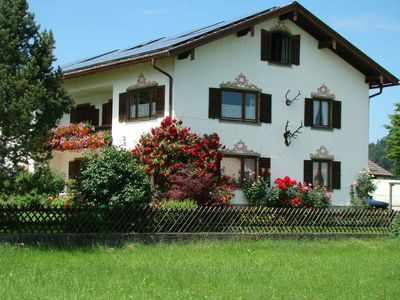 Photo for Apartment (76 m²) in a country house style with an alpine panorama on the Samerberg at 700 m