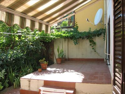 Section of outdoor patio