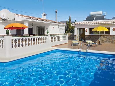 Photo for Peaceful rural villa with air con, pool + BBQ, close to village + restaurants