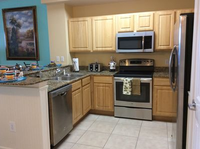 Granite Counter Tops and New Stainless Steel Appliances