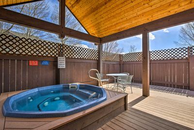 What's a mountain trip without a little relaxation in a hot tub?