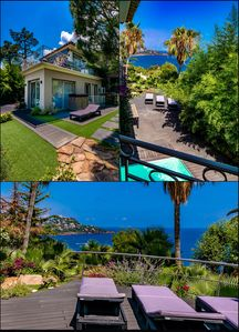 Photo for FRENCH RIVIERA: NEW VILLA SEA VIEW FÉERIQUE 100 m from the beach