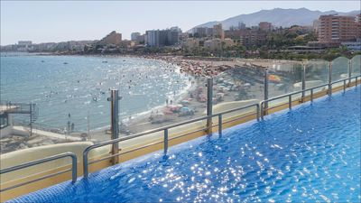 Photo for LUXURY, IN PUERTO MARINA, BEACHFRONT, WIFI, BIG APARTMENT, CLOSE TO ALL SERVICES