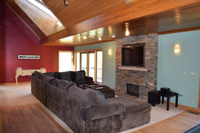 living area with down filled sectional couch.  its very comfortable