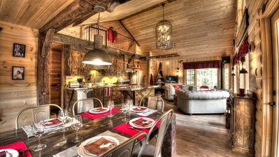 Photo for Le Bivouac Chalet 6 people, SPA and Amerindian inspiration