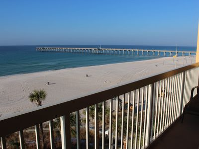 Photo for Beautiful condo w/ beach access - outdoor pool, gym & hot tub on-site!