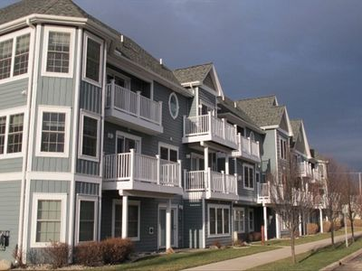 Two-story three-bedroom condo in Traverse City.