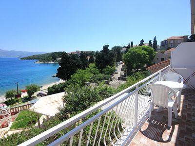 Photo for One bedroom apartment with balcony and sea view Korčula (A-10051-b)