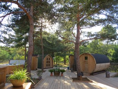 Photo for Unusual guesthouse in the countryside and outdoor SPA and sauna barrel