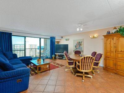 Photo for Spacious 3 Bedroom condo steps to the beach with outdoor pool