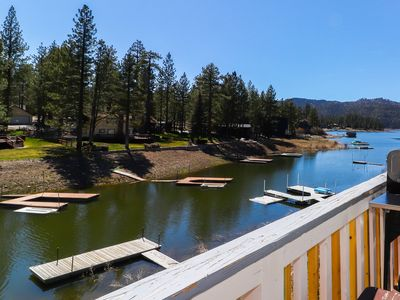 Photo for Blue Lagoon: Lakefront! Dock! Amazing Views! 2 Cabins in 1! Cable TV! Wood Floors! Game Room!