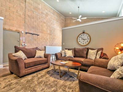 Photo for Loft w/shared hot tub & firepit - great location, walk everywhere