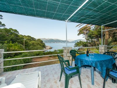 Photo for Villa Kolocep 3 - 20min with boat from Dubrovnik, 20m far from beach