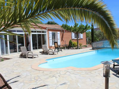 Photo for Detached villa with pool, sea and countryside