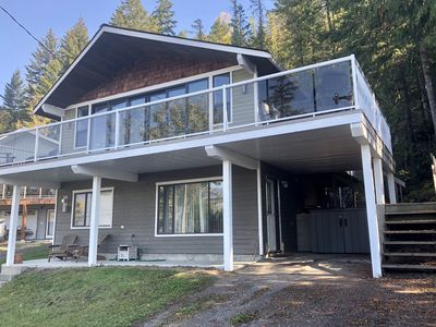 Photo for NEWLY RENOVATED! Shuswap Lake, 3 BR, 2bath, private beach