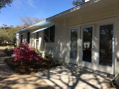 Sky Blue is on a large corner lot &less then 3 blocks (5 min walk)to  the beach!