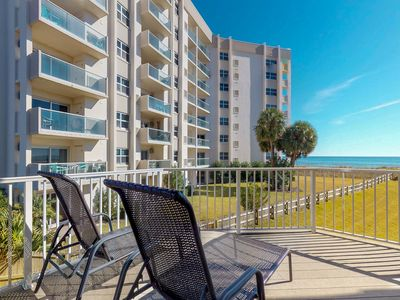 Photo for NEW LISTING! Modern beachfront condo w/ furnished balcony,  views & shared pool