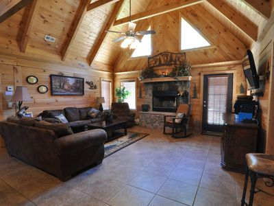 Photo for Luxurious Log Home; 3 bedrooms; 2 bath.  1 mile to Legends of Golf