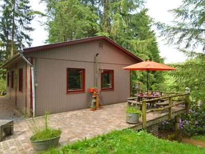 Photo for Chalet and gypsy caravan in a green and peaceful environment, near Houffalize