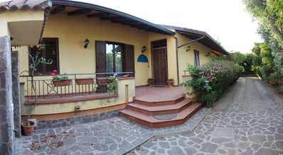Photo for Ground floor villa with terraces and many green spaces. 8 pax 650 meters from the sea