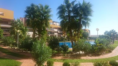 Photo for Beautiful apartment in beautifully landscaped property with large pool