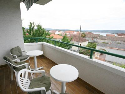 Photo for Two bedroom apartment with terrace and sea view Turanj (Biograd)