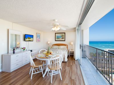 Photo for Beautiful Studio in the Heart of Waikiki | Ocean Views | 1 Block from Beach
