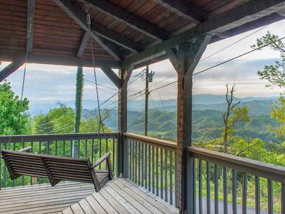 Photo for **New Listing!** GORGEOUS VIEW! Cozy Cabin 6 mi to PF - NEW Hot Tub