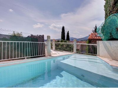 Photo for Large Provencal country house with magnificent views in the heart of a historic village