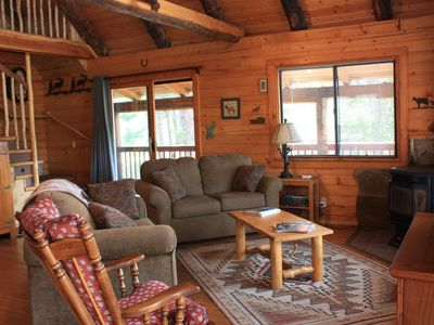 Photo for Scenic Log Home on the East River nestled in the Pines