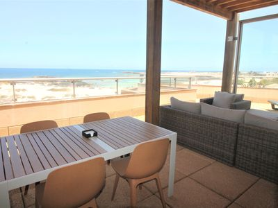 Photo for Marfolin 18.  Beach front apartment. 2 bedrooms with huge private roof terrace