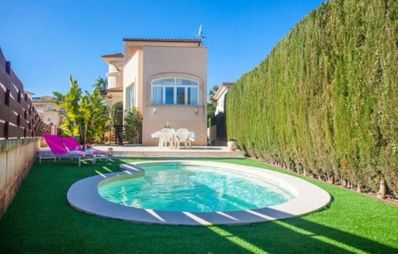 Photo for Tasteful holiday home with pool in the middle of Colonia St. Jordi near Es Trenc