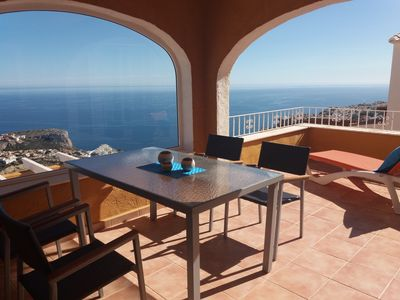 Photo for Large, sunny penthouse with fantastic sea views