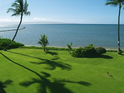 View from your lanai of the ocean and the island of Lanai.