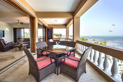 Amazing, unobstructed views from the 3rd floor beachfront balcony!