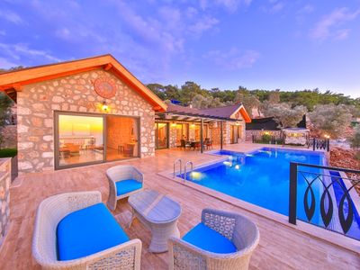 Photo for Luxurious 2 Bedroom Villa with Stunning Sea views, Heated Indoor Pool