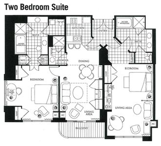 Signature mgm grand 2br 3ba suite w 1 500 vrbo for Mgm grand signature 2 bedroom suite