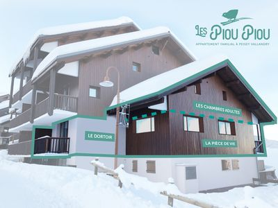 Photo for Renovated duplex 12 people on the slopes Peisey Vallandry