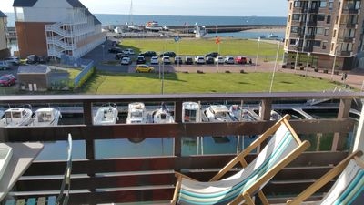 Photo for MARINA DEAUVILLE Duplex for 2 to 4 pers. Beautiful sea view and pool. Wifi, HD TV