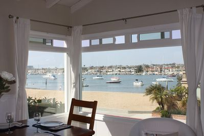 Newport bay beach view from living room