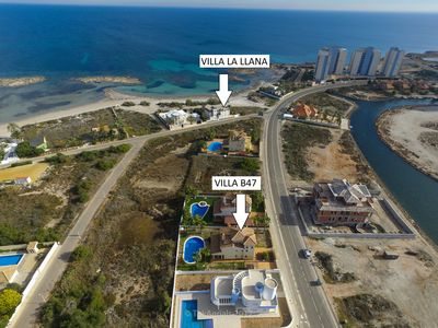Photo for Two spectacular villas with pool at 50m each other for 31 people.