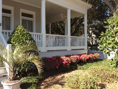 Wrap around Front Porch with Swing and Hammock