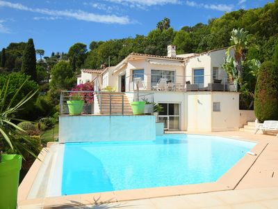 Photo for This 4-bedroom villa for up to 10 guests is located in Vallauris and has a private swimming pool and