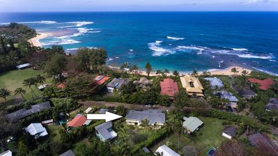 Photo for Hale Pulelehua with Guest House steps to Banana Beach and Tunnels TVNC 1238