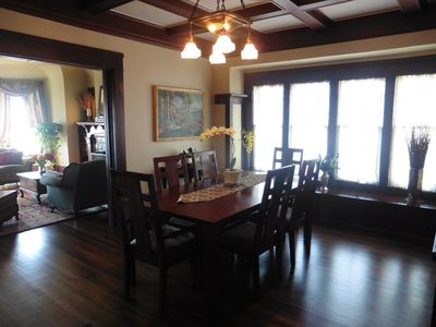 Enjoy the views from the first floor of this beautifCraftsman style home