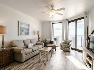 Photo for Updated Beachfront Condo with Private Balcony. Enjoy Beach Views for Miles! Indoor & Outdoor Pools!