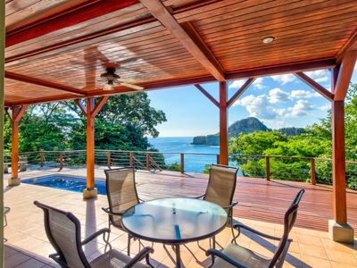 Photo for Oceanfront treehouse home w/ private pool, deck, near beach