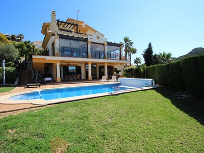Photo for Panoramic views of the Mar Menor and La Manga Club from this family villa